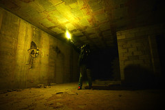 Nightmare (FX-1988) Tags: apocalypse apocalyptical surreal dark night abandoned urbex exploration explore self flare light gas mask gasmask lost dream stick sticklight atmosphere yellow postapocalyptic
