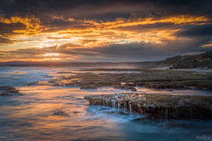 How Deep Is the Ocean DSC_8722 (BlueberryAsh) Tags: fffplus nov2018 torquay beach pointroadknight ocean susnet cloudsstormssunsetssunrises clouds sea rocks longexposure water orange coast australianseascape seascape greatoceanrd nikond750 nikon24120