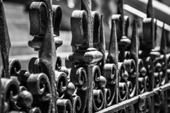 Wrought iron fence (Jose Rahona) Tags: valla fence iron metal finials blackandwhite bw finial