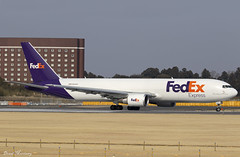 FedEx 767-300F(ER) N104FE (birrlad) Tags: narita nrt international airport tokyo japan aircraft aviation airplane airplanes airline airliner airlines airways taxi taxiway takeoff departing departure runway boeing b767 b763 767 767300f 7673s2fer n104fe fedex cargo freighter freight transport