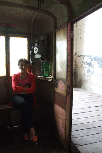 At the lower station of the cable car, 09.09.2013.