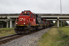 CN A420 at MP 214.7 (travisnewman100) Tags: canadian national cn train railroad manifest yazoo subdivision central division ge c408w emd sd60 a420 locomotive rr