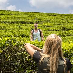 Visit to a tea plantation (Hans van der Boom) Tags: holiday vacation indonesia indonesië asia java westjava tea plantation shooter posing people id