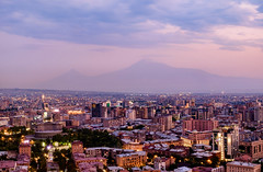 Evening magic in Yerevan with Mount Ararat, Armenia (Maria_Globetrotter) Tags: transcaucasia armenia georgia summer trip dscf1763hdrlr2