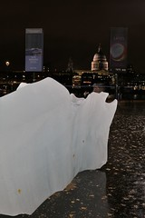 Melting By the Thames (Derbyshire Harrier) Tags: bergybits ice tatemodern art display riverthames london december 2018 stpauls longexposure reflection olafureliasson icewatch city capital evening