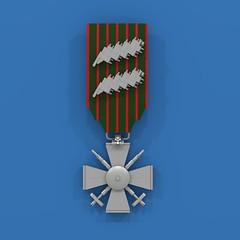 Croix de guerre, with 2 palms (ABS Shipyards) Tags: lego world war i wwi croix de guerre medal ribbon