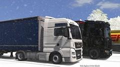 Austria (black_moloko) Tags: ets2 eurotrucksimulator2 man euro6 scania nextgeneration krone schwarzmueller winter trip