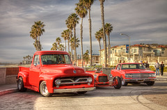 Our 55 at Surfrider (rod1691) Tags: oceanside california beach hotrods palms