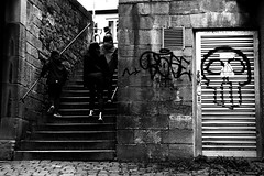 Bad (Leica M6) (stefankamert) Tags: bad film analog analogue leica m6 leicam6 blackandwhite blackwhite noir noiretblanc graffiti kodak trix summitar stefankamert tübingen people wall