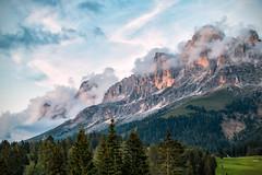 Dolomiti 2 (BZ) (Ondablv) Tags: alpino tramonto rosso luce nuvole bolzano alto adige bosco abeti massiccio ondablv alberi trentino dolomiti