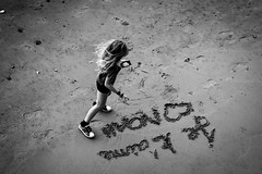 Noah (David Marsh Photos) Tags: london southbank monochrome sand beach nikon d7100 blackandwhite streetphotography