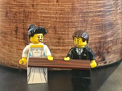 Wooden Anniversary 5 years today! (Hammerstein NWC) Tags: anniversary lego moc wood minifigs marriage bride groom celebrate