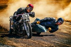 Sidecar racing (Subdive) Tags: 2018 bikes canon canoneos80d classic flattrack hallstavik hzarena motorsport motorsportsphotography race scandinaviandirttrackweekend sdtw vintage sidecar motorcycle vintageracing dirttrack
