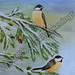 """""""Winter Birds"""" by Nina, acrylic, $100.00"""