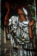 [69078] Birmingham : BM&AG - Elijah in the Wilderness (Budby) Tags: birmingham westmidlands artgallery museum stainedglass window preraphaelite