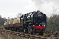 "BR Standard 7, 70000 Britannia seen pulling ""The Pennine Moors Explorer"" (James P Matthews) Tags: britannia 70000 steamtrain railway britishrailstandardclass7 preston lancashire steam"