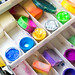 Colorful paints for face painting