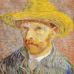 Self-Portrait with a Straw Hat (1887) by Vincent Van Gogh. Original from the MET Museum. Digitally enhanced by rawpixel. thumbnail