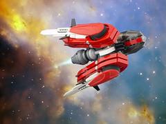 Rutilus (Ryan Howerter) Tags: lego foitsop red galidor starfighter space photoshop starfield stg moc creation
