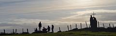 Knockavoe (conall..) Tags: knockavoe hill cross nikonafsnikkorf18glens50mm prime lens primelens tyrone strabane backlit backlight intothelight sun sunny silhouette barbed wire fence barb metal steel barbedwire barbedwirefence
