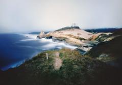 the view to the north (manyfires) Tags: film analog pinhole innova6x9pinhole landscape sea seascape shore shoreline ocean coast coastline oregon pnw pacificnorthwest capekiwanda pacificocean pacificcity pacific cliffs