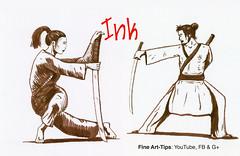How to Draw a Japanese Warrior With Brush Pen - Pen & Ink - Narrated (fineart-tips) Tags: art drawing finearttips brushpen ink warriors japanese tutorial artistleonardo leonardopereznieto patreon tutto3
