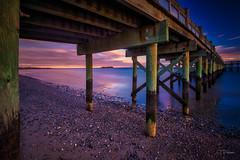 Walnut Beach (TP17) Tags: connecticut milford walnut beach pier water sunset tompiorkowski fujix