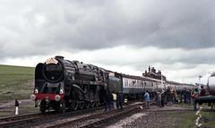 92220 Evening Star at Hellifield 1978 (Barrytaxi) Tags: steam locomotives yorkshire settle carlisle 9f borderventurer