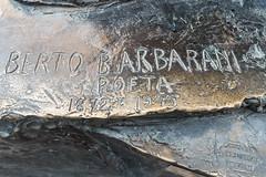 Berto Barbarani (1872-1945) Poet, Verona, Veneto, Italy. (R H Kamen) Tags: italy piazzadelleerbe veneto veronaitaly day inscription outdoor outdoors rhkamen sculpture statue westernscript verona