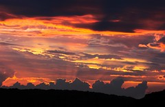 [Explored] Sun burnt country sunset (WinRuWorld) Tags: australia nsw newsouthwales sunset clouds meteorology weather hot outdoors evening twilight crepuscularrays orange red dusk glenrock west sky skypoetry summer southernhemisphere