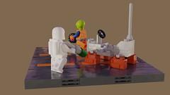Febrovery 2019 No. 00 (David Roberts 01341) Tags: lego ldd mecabricks render classicspace 886 minifigure spaceman alien