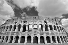 Flavian Amphtheatre (Colisseum, Rome) Mono version  -  (Selected by GETTY IMAGES) (DESPITE STRAIGHT LINES) Tags: nikon d7200 nikond7200 nikkor1024mm nikon1024mm getty gettyimages gettyimagesesp despitestraightlinesatgettyimages paulwilliams paulwilliamsatgettyimages rome roma romeitaly colosseum thepantheon thecolosseumrome thecolosseuminrome architecture flavianamphitheatre amphitheatre colosseo italy gladiator gladiators vespasian titus emperor