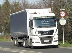 EU15 ZSJ at Welshpool (Joshhowells27) Tags: lorry truck man eu15zsj curtainsider unmarked anrichards