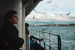 Ferry to Eminönü, Istanbul (sdhaddow) Tags: istanbul turkey people profile ferry birds seagulls
