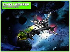 BT-02 Blacktron Lamprey Missile Corvette