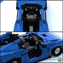 80's Supercar interior - Miniland scale - Lego (Sir.Manperson) Tags: lego moc 80s retro ldd render miniland