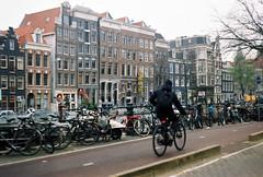 (lada.zhigulina) Tags: bicecle bigcitylife amsterdam holland netherlands film 35mm architecture atmosphere