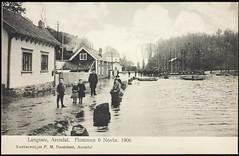 Postkort fra Arendal (Avtrykket) Tags: barbuvassdraget bolighus hus oversvømmelse postkort vei arendal austagder norway nor