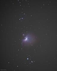 Orion Nebula 2018 25 shots 20 sec iso 1000 (al.scuderi71) Tags: long exposure orion orione nebula nebulosa nebulae vixen polarie astroinseguitore gh4 on1 photo raw 2018 pics lunga esposizione night nightshot tripod remote control sky cielo notte scatto notturno stelle stars gas lights luci rome italy pollution astrometrydotnet:id=nova3108178 astrometrydotnet:status=solved