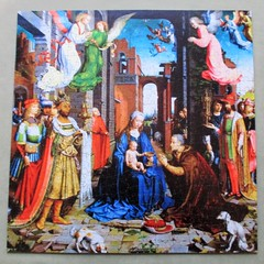 Adoration of the Three Kings (pefkosmad) Tags: jigsaw puzzle hobby leisure pastime wood wooden wentworth new sealed christmaspresent jangossaert adorationofthethreekings painting art fineart lasercut whimsies figurals complete december christmas bargain sale clearance