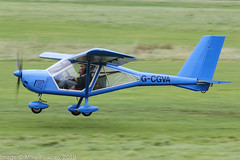 G-CGVA - 2011 build Aeroprakt A22-L Foxbat, departing from Runway 26L at Barton (egcc) Tags: a22 a22l aeroprakt barton cityairport egcb foxbat gcgva gilman griffin homebuilt lightroom manchester microlight pfa317a14734