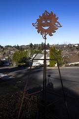 2019-01-14 Sunshine makes me happy! (Mary Wardell) Tags: sunburst metal smile blue sky happy canon60d