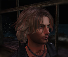 Deep Thought (♥Tia♥) Tags: secondlife portrait man headnsholders blonde greeneyes sl