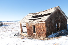 Collapsing (lars hammar) Tags: southpark fairplay colorado winter snow abandoned abandonedhouse