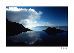 Reflection ... (pdel64@photography) Tags: grenoble beauty nature light sky blue best cloud lake reflection bleu air pure sun