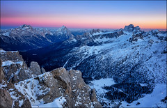 Tramonto sul Regno (Gio_guarda_le_stelle) Tags: dolomiti dolomites dolomiten sunset afterglow alpenglow mountainscape cool ice snow coolbreeze sky light blue bluehour landscape italy 4x4 travel i