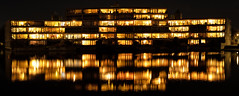 The Collective (EmreKanik) Tags: symmetrical nightphotography netherlands symmetry water 365project purmerend reflection panorama europe apartments architecture northholland nl