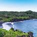 Waianapanapa black sand beach Maui Hawaii
