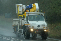 Mercedes Unimog Western Power AE13 EVF (SR Photos Torksey) Tags: transport truck haulage hgv lorry lgv logistics road commercial vehicle freight traffic electricity western power mercedes unimog
