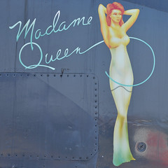 Madame Queen (Rich Snyder--Jetarazzi Photography) Tags: noseart madamequeen nose generaldynamics fb111 fb111a aardvark 696507 usairforce usaf airforce strategicaircommand sac preserved displayed castleairmuseum castleairport castleafb mer kmer atwater ca airplane aircraft jet plane fighter bomber